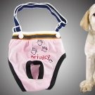 Size 1 Pink Elastic Shoulder Belt Diaper Pants for Dog