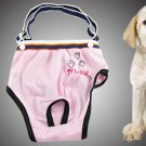 Size 4 Pink Pants with Adjustable Braces for Pet Dog