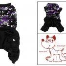 Dog Autumn Clothing Pull Over Shirt Hip Pocket Jumpsuit Pet Apparel L