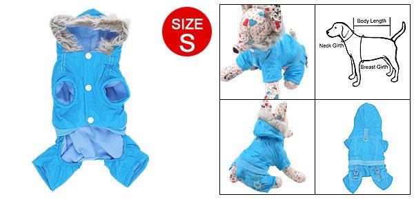 Size S Sky Blue Cotton Plush Apparel Clothes for Dog