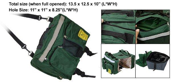 Portable Green Saddle Bag Backpack for Dog Doggie Pet