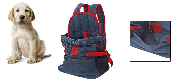 Front Style Dog Puppy Cat Pet Carrier Jeans Cloth Carrying Bag Tote