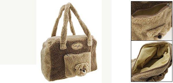 Fluffy Lovely Bear Style Girl's Carring Handbag