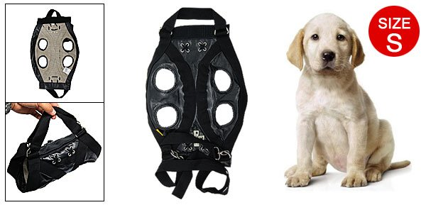 Size S Multifuctional Pet Dog Puppy Travel Shopping Carrier Carry Bag PU Black