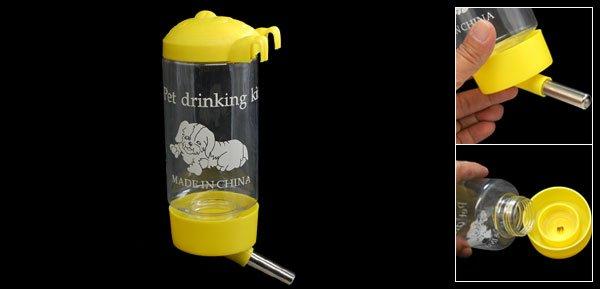 Dog Design Pet Puppy Gerbil Cage Water Feeder Plastic Bottle