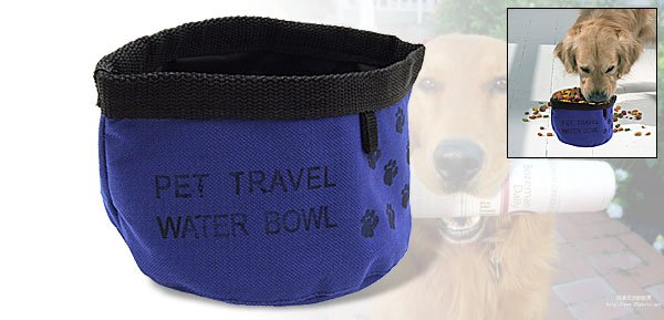 Folding Pet Dog Cat Travel Portable Food Water Bowl
