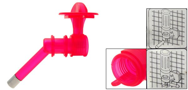 Magenta Plastic Cat Dog Pet Water Feeder Conduit