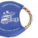 Pet Dog Training Pastel Cotton Rope Flyer Frisbee Bite Toy
