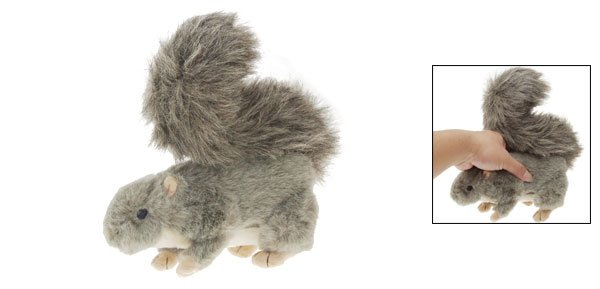 Squeaky Squirrel Stuffed Plush Doll Toy for Dog Pet