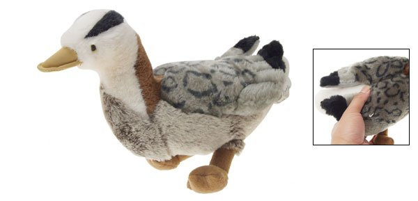 Squeaky Mandarin Duck Stuffed Plush Doll Toy for Pet Dog