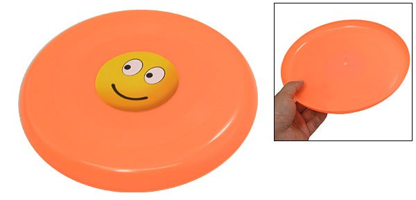 Smiling Face Style Plastic Dog Pet Training Catching Frisbee Toy