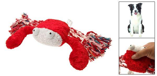 Plush Squeaky Dog Toy Tug Rope & Crab Pet Toys & Supplies