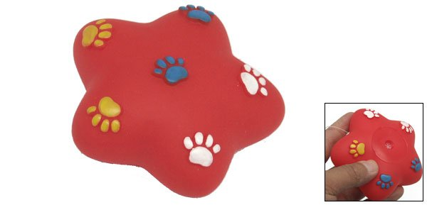Red Star Squeaky Dog & Cat Pet Chew Toy