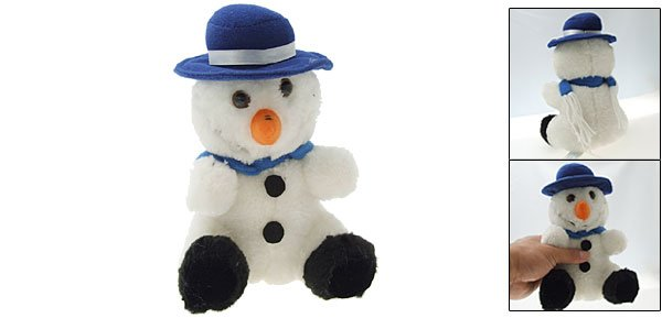 Soft Plush Snowman Doll Toy for Dog Pet