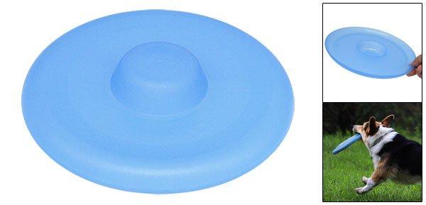 Blue Plastic Dog Pet Training Catching Frisbee Flyer Toy