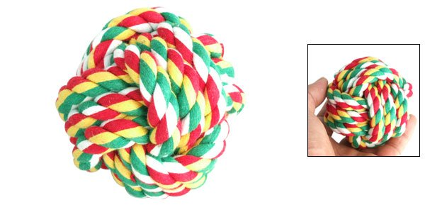 Pet Doggie Cat Entertainment Rolling Use Small Colorful Cloth Ball