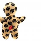 Black Dog's Footprint Pattern Interesting Pet Use Soft Plush Doll Toy