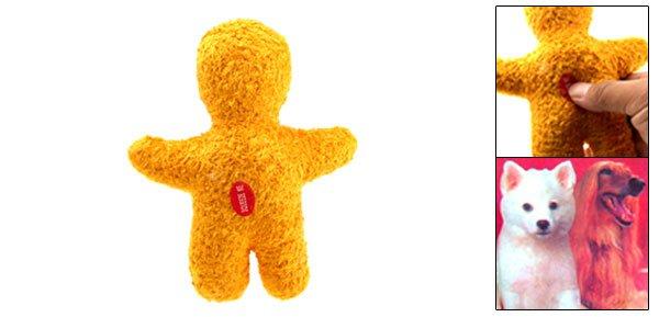 Fashion Interesting Soft Plush Pet Use Yellow Doll Toy