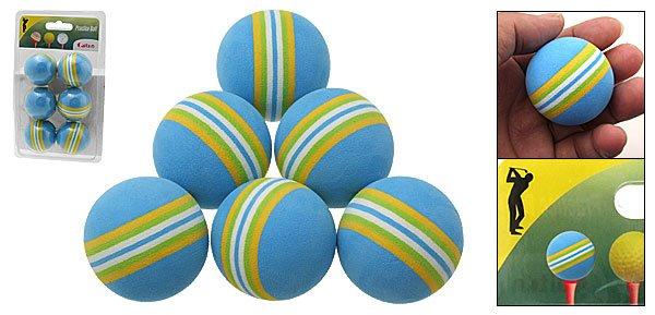 Six Colorful Foam Golf Practice Training Balls