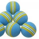 Six Colorful Foam Golf Practice Training Balls