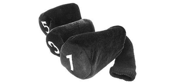 Cotton Velveteen Mallet Head Sock Covers - Set of 3
