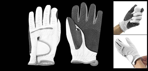 Men's Left Hand All Weather Golf Glove Size M White & Black