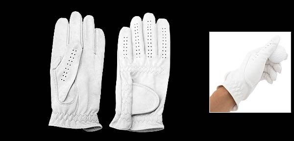 Mens Left Hand All Weather Golf Glove Size M (MSK-01) White