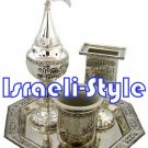 41124 - silver plated HAVDALAH SET 4 PCS