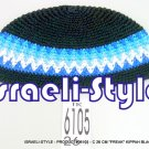 06105 - CLOTH 26 CM &quot;FREAK&quot; KIPA BLACK & BLUE  YARMULKE