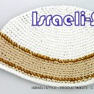 "06373 - CLOTH ""FREAK"" KIPA FINISH DESIGN YARMULKE"
