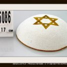 15086, LOT OF 5 PCS,17CM KNITTED KIPA YARMULKE KIPPAH STAR OF DAVID
