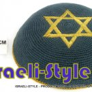 LOT OF 5PCS,15233 - C KNITTED KIPPAH KIPA GRAY, GOLD MAGEN DAVID STAR