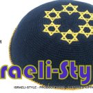 free shipping!! LOT OF 5PCS, 15235 - C KNITTED KIPPAH kipa BLUE 6 GOLD M