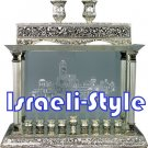 "05685 - SILVER PLATED MENORAH DELUXE ""HAMIKDASH"""