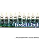 "58122 - GLASS/ CRYSTAL MENORAH ""JESITES"""