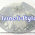 00323 - LOT OF 10, HIGH QUALITY WHITE TERYLENE  KIPA / KIPPAH / YARMULKE / YAMAKA / KIPPA
