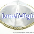 00375- LOT OF 10, 20CM TERYLENE KIPPAH + GOLD LINE/ KIPPAH / YARMULKE / YAMAKA / KIPPA