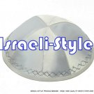 00406- LOT OF 10, 19CM WHITE KIPA  / YARMULKE / YAMAKA / KIPPA