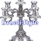 02924 - SILVER PLATED 5 BRANCH CANDLESTICKS/ candle holder 35 CM