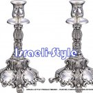02931 - PAIR SILVER PLATED CNDLESTICKS/CANDLEHOLDERS 25 CM .