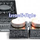 41464 - PAIR BS PE TRAVEL CANDLESTICK 5 cm.