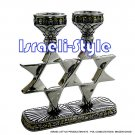 41475 - POL CANDLESTICKS CANDLE HOLDERS- MAGEN DAVID
