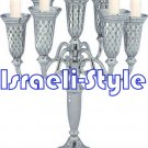 41558 - NICKEL 7 BRANCH CANDLESTICKS 27 CM
