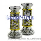 80318 -  POL SILVER CANDLE HOLDERS