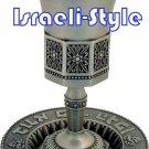 40851 - PEWTER OCTAGON KIDDUSH CUP +PLATE/ judaica gift from israel