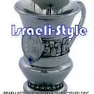 "85012 - BRASS ""YELED TOV"" CUP, BLUE ENAMEL- 9 CM/ judaica gift from israel"