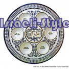 81723 - PLASTIC MELAMINE PASSOVER SEDER PLATE - judaica  from israel
