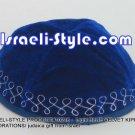 10216 - SET OF 10 PCS LiGHT BLUE VELVET KIPPAH DECORATIONS/ KIPA / YARMULKE /KIPPA