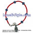 9322 - LOT OF12PCS STAINLESS STEEL BRACELET RED STRING (12) judaica GIFT from Israel.