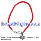 9602 - SET OF 12PCS BRACELET RED MAGEN DAVID judaica GIFT from Israel.